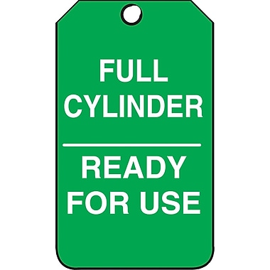 Accuform Signs® Full Cylinder, Ready for Use Tag, Plastic, 5-7/8