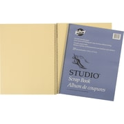 "Hilroy Scrapbook with Oversized Coil Binding, 14"" x 11"", 20 Sheets, Manilla"