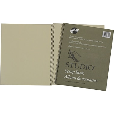 Hilroy Scrapbook with Oversized Coil Binding, 12
