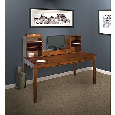 """hudson valley 60"""" writing desk with hutch 