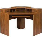 Office Adaptations Corner Desk with Monitor Platform