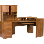 Office Adaptations Reversible Corner Workcenter with Hutch