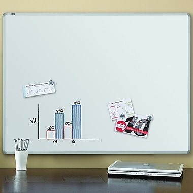 Quartet® Magnetic Dry-Erase Board, 3' x 4', Euro™ Style Aluminum Frame (2574)