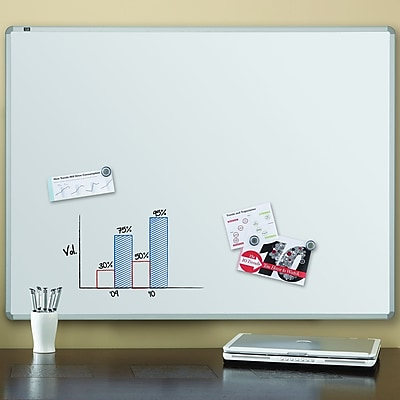 Quartet® Magnetic Dry-Erase Board, Euro Style Aluminum Frame, 4'W x 3'H (2574)
