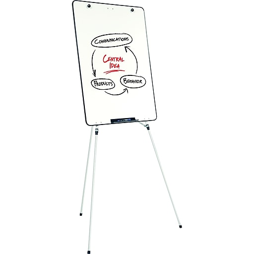 staples advantage presentation easel whiteboard flipchart surface