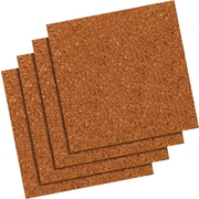 "Staples® Cork Tiles, 12"" x 12"", 4/Pack"