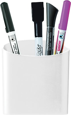 Staples® Magnetic Pencil/Pen Cup Holder, White