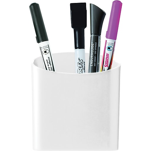 140ad662500 Staples® Magnetic Pencil/Pen Cup Holder, White | Staples