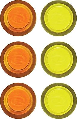 Staples® Translucent Magnets, 6/Pack
