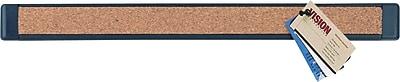 Staples® Bulletin Bar® III, Cork, Black Plastic Frame, 2 Pack, 12