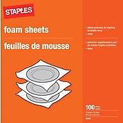 "Staples 12 x 12 Foam Sheets, 12"" x 12"", 100 Sheets/Pack (30435)"
