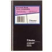 "Blueline® Account Book, 3 columns, 80 Pages, 8"" x 5"""