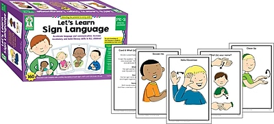 Key Education Publishing Let's Learn Sign Language Learning Cards, Grades PreK-2