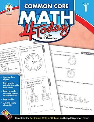 Carson-Dellosa™ Common Core Math 4 Today Workbook, Grade 1