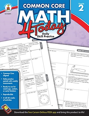 Carson-Dellosa™ Common Core Math 4 Today Workbook, Grade 2