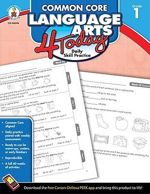 Carson-Dellosa™ Common Core Language Arts 4 Today Workbook, Grade 1