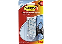 Command™ Clear Large Hook, Clear