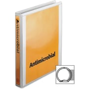 """Cardinal Antimicrobial ClearVue Binder with Locking Round Rings, Letter, 8.50"""" x 11"""", 250 Sheet, 1"""" Capacity, 1 Each, White"""