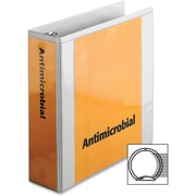 """Cardinal Antimicrobial ClearVue Binder with Locking Round Rings, Letter, 8.50"""" x 11"""", 625 Sheet, 3"""" Capacity, 1 Each, White"""
