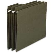 """Smead 100% Recycled FasTab Hanging Folder, Letter, , 8.50"""" x 11"""", 1/3 Cut Tab on Assorted Position, 11 pt., 20/Pack, Green"""