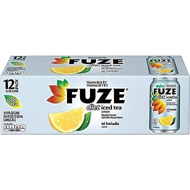 Fuze® Diet Lemon Iced Tea, 12 oz. Cans, 12/Pack