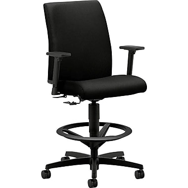 HON Ignition Fabric Computer and Desk Office Chair, Adjustable Arms, Black (IT109NT10.COM)