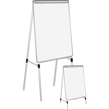 Staples® Silver Easy Clean Dry Erase Quad-Pod Pres. Easel, Silver