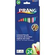 Prang® (Dixon Ticonderoga®) Colored Pencils, 3.3mm, Sharpened, Assorted Colors, 24/Set