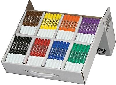 Prang® (Dixon Ticonderoga®) Washable Art Markers, Bullet Tip, Master Pack, 8 Colors, 200/Box