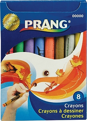 Prang® (Dixon Ticonderoga®) Crayons, Standard Size, 8-Color Box