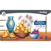 Dixon Lyra Rembrandt Polycolor Colored Pencils, 36Bx