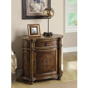 Monarch Traditional One Drawer Bombay Cabinet, Light Brown
