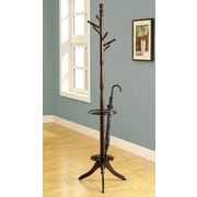 Monarch Solid Wood Coat Rack With An Umbrella Holder, Cappuccino
