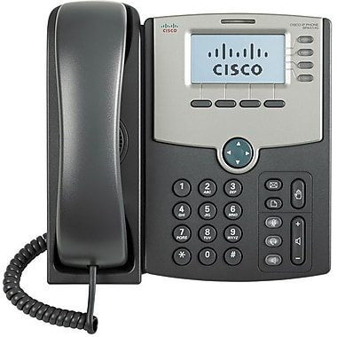 Cisco® 4-Line IP Phone with 2 Port GBE Switch POE LCD Display