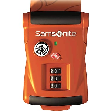Samsonite Travel Sentry 3-Dial Combo Luggage Strap, Orange