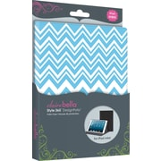 Elibrium365 Designer Folios for iPad Mini, Zig Zag Blue