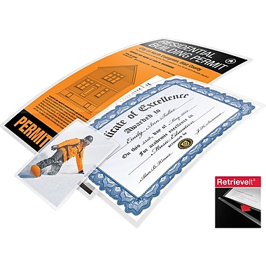 SwinglineMD – Pochette pour la plastification GBC RetrieveltMC, 9 x 14 1/2 po, 4 mil, format légal, 25/paquet