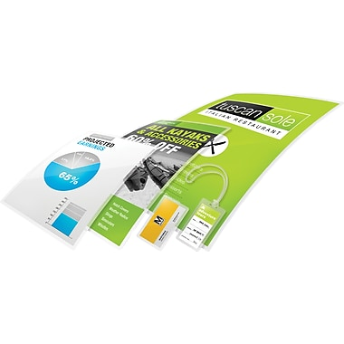 Swingline® - Pochette de plastification thermique GBC UltraClear™, 9 po x 14 1/2 po, 3 mil, légal, paq./25