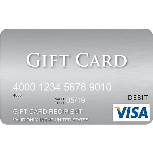 visa 300 gift card rollover image to zoom in httpswwwstaples 3pcoms7is - Buy Visa Gift Card With Credit Card