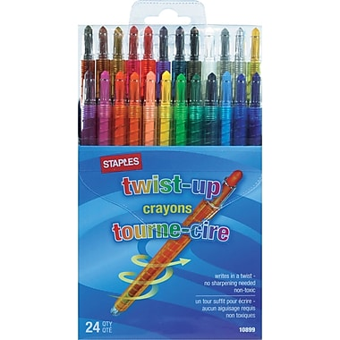 Staples® Twist-Up Crayons, 24/Pack