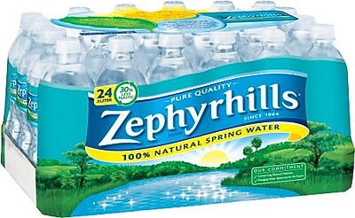 Zephyrhills® 100% Natural Spring Water, 16.9-ounce Plastic Bottle, 24/Case