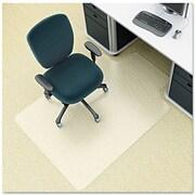 "Deflecto EnvironMat™ Earth Friendly Chairmat, For Low-Pile Carpets, Standard Lip, 45"" x 53"""
