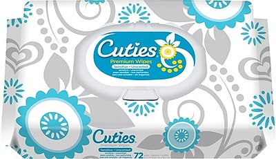 Cuties™ Sensitive Baby Wipes, 864/Case