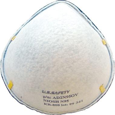 Dentec Safety N95 Disposable Respirators, Sub-PEL, 20 per Box