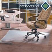 "Floortex™ AntiBacterial Chairmat, Hardfloors, Rectangle, 36"" x 48"""