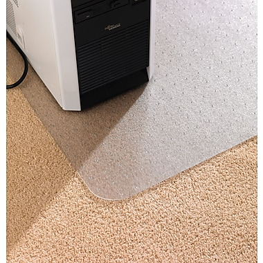 Floortex™ AntiStatic PVC Chairmat, Standard Pile Carpet, Rectangle, 48