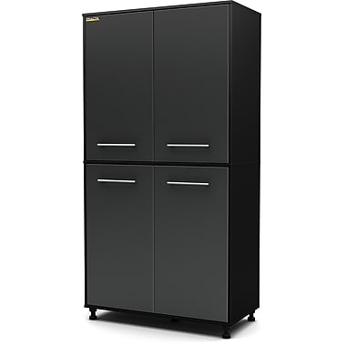 South Shore Karbon Storage Cabinet, Charcoal & Black