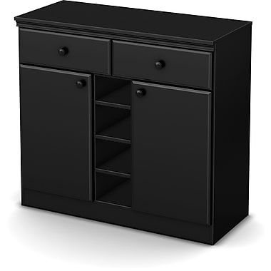 South Shore Morgan Storage Console, Black
