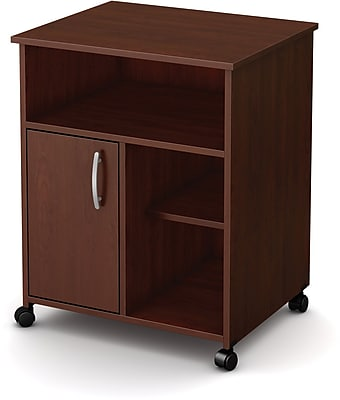 South Shore Mobile Media Printer Cart, Royal Cherry