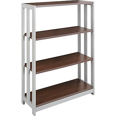 Linea Italia® 3-Shelf Trento Line Woodgrain Laminate Bookcase, Mocha